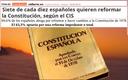 Set de cada deu espanyols volen reformar la Constitució